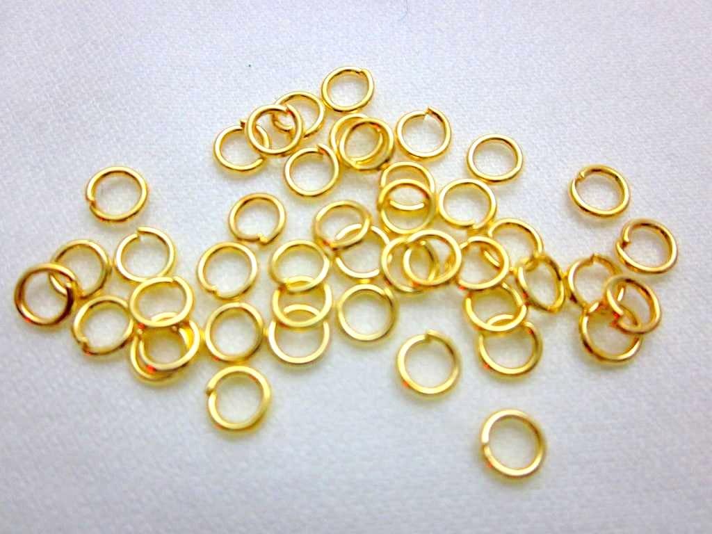 アクセサリーパーツ アクセサリー マルカン 丸カン リング ゴールド 4mm 100個 [4582434307673]
